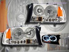 97 98 99 00 01 02 03 04 Dodge Dakota Durango Halo LED CCFL Headlights Chrome