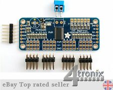 I2C Adafruit 16-Channel Servo Driver Board with 12-Bit PWM for Raspberry Pi, etc