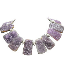 Handmade Gem Amethyst Quartz Necklace With Sterling Silver Beads