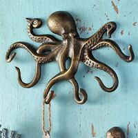 Swimming Octopus Key Hook Wall Hanger Coastal Nautical Sea Llife Towel Leash