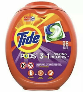 Tide PODS Laundry Detergent Liquid Pacs, Spring Meadow Scent, HE Compatible✔️✔️
