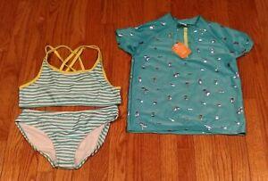 NWT Gymboree Girls Bathing Suit 3//4 Rashguard Sea Mermaid 12-18 Months