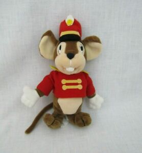 """Walt Disney Dumbo Timothy Mouse Bean Bag Plush 8"""" Red Outfit"""