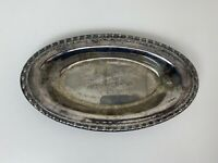 """ROGERS & BROS. Silver Plate Oval Serving Tray 1719 / 12.25"""" x 7.25"""""""