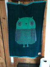Donna Wilson Bath Sheet Green owl 100 x 150 new