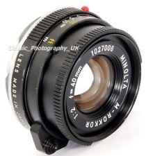 Minolta M-Rokkor 1:2 f=40mm F2 Lens Leica CL LEICA-M Voigtlander KONICA M Mount