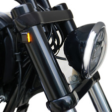 Gabel Cover Hülsen mit LED Blinker für Harley Davidson Dyna Fat Bob