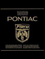 1986 Pontiac Fiero Shop Service Repair Manual Book Engine Drivetrain Wiring OEM