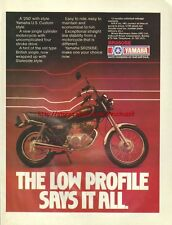 Yamaha SR250SE Motorcycle 1981 Magazine Advert #3686