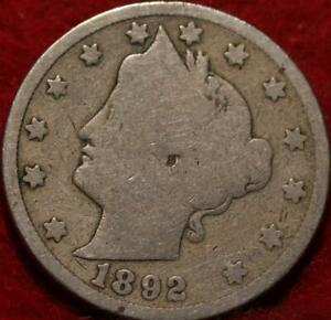 1892 Philadelphia Mint Liberty Nickel