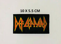 Def Leppard Heavy Metal Punk Rock Embroidered Iron Sew On Patch Badge Dress #229
