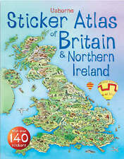 Very Good, Usborne Sticker Atlas of Britain and Ireland (Usborne Sticker Atlases