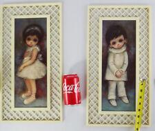 OZZ FRANCa MCM ballet clown child print big eye doll set boy latice frame girl