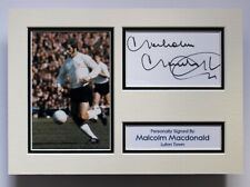 More details for malcolm macdonald luton town signed a4 autograph photo mount display + coa