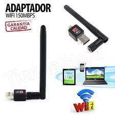 Antena WIFI USB EXTERNA adaptador Wireless 150 Mbps LAN WI-FI Gran Potencia -N