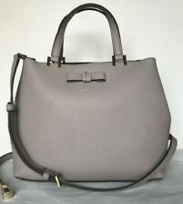 New Kate Spade New York Gwyn Pershing Street Leather Satchel Grey