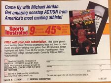 """Michael Jordan Mail In Subscription For Sports Illustrated 1991, 4 1/2"""" X 5 1/2"""""""