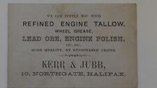 Vintage Business Card. Early Motoring Car Enthusiast. Halifax, Yorkshire.