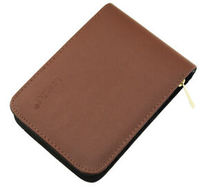 Fountain Pen/Roller Pen Brown Coffee Color Leather Case for 12 Pens