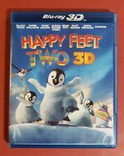 Happy Feet Two 3D (Blu-ray 3D/2D/DVD, 2012, 3-Disc Set, Digital Copy) *tested*