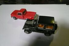 Vintage-Yatming-Road Champs(Jri Inc)-Jeep Cj7&chevy pick up red truck