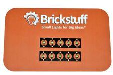 Brickstuff 10 LED bianco caldo Pico SU PANNELLO-Foglia 01-PWW-10PK-Fai da te