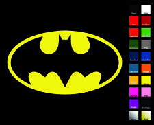 Batman Decal / Sticker - Choose Color & Size - Bruce Wayne Superman Wonder Woman