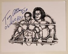 Tony Atlas Signed 8.5x11 Auto Autograph Drawing Print Andre The Giant Proof