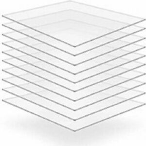 Custom Cut to Any Size Clear Acrylic Perspex Sheet Panel Any Size