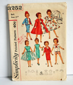 "Vintage Doll Sewing Pattern 1950s 21"" Madame Alexander Cissy or Portrait"
