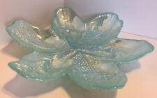 Akcam Flower Bowl Iridescent Light Blue