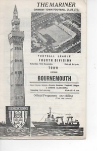 Grimsby Town v Bournemouth 1970/71 Division 4 Complete with League Review