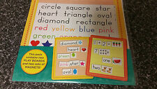 Educational Magnet: Numbers, Shapes & Colours + 2 Magnetic Playboards