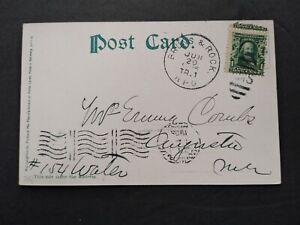 RPO: Bruns. & Rock. 1905 Scenic Postcard, Short Lived Maine Railroad