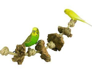 Spielzeug Seil für Vögel 60 cm lang mit 4 Knabber-Kork Stücken