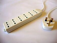 UK plug to Italian socket extension lead (Italy)