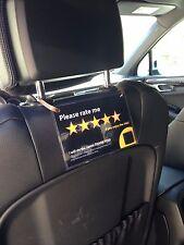 2 x Uber Lyft Headrest 5 Star Ratings Decal Sign Rideshare Car Display Cards