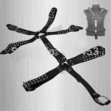 Strong Heavy Pu Leather Men Full Body Harness Suit Costume Penis Ring Bondage