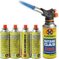 Butane Gas Blow Torch Flamethrower Burner Welding Auto Ignition Camping Tool NEW