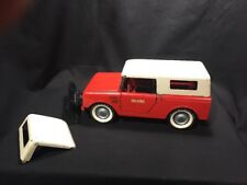 Vintage Red Tru Scale Int'l Harvester Scout Truck Pressed Steel BOTH tops PLOW