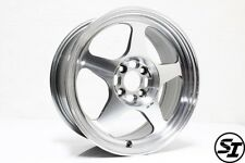 ROTA SLIPSTREAM WHEELS 16X7 +40 4X100 67.1 HB POLISH GREY HONDA CIVIC XA XB RIMS