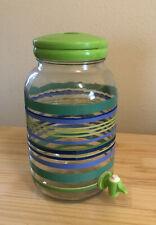 New listing Original Vintage Striped Sun Tea Glass Dispenser Jar by Martha Stewart