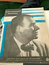 International Musician Magazine ~ MAY 1955 ALAN CARTER COVER-MUSIC IN VERMONT