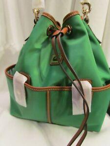 Dooney & Bourke Camden Collection Nylon Drawstring Bag GREEN $159
