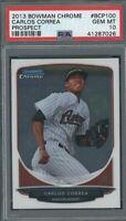2013 Bowman Chrome Astros ROOKIE Baseball Card CARLOS CORREA PSA 10 GEM MINT