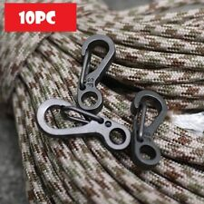 Mini Edc Paracord Hanging Carabiner Buckle Snap Hook Sf Spring Clip 10 Pc