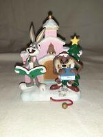 Vtg Looney Tunes Christmas Stocking Hanger Holder 1996 Bugs Bunny Tasmanian Taz