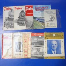 Mixed Lot of 10 Vintage 1950's Railroad Train Passenger Cars Magazines Booklets