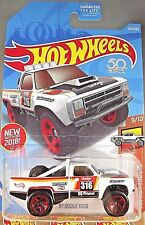 2018 Hot Wheels #275 HW Hot Trucks 9/10 '87 DODGE D100 White w/Red 5 Spoke Wheel