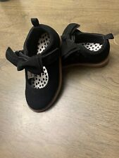 Baby/Toddler Girl Bow Shoes Suede Black SZ 7C US